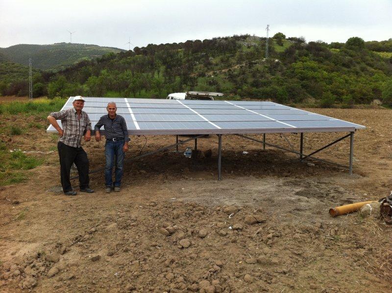 Yenilenebilir enerji sistemi ile sulama